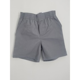 Toddler Pull-On Short- Solid Colors-Grey