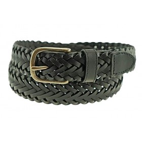 Braided Leather Belt-Brown