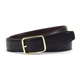 Reversible Leather Belt-Navy/Black