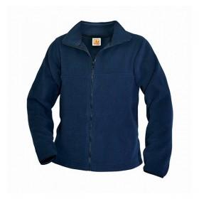 Polar Fleece Jacket- Half Zip-Navy