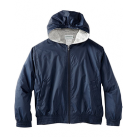 Hooded Jacket with Lining-Navy