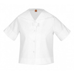 Middy (Sailor) Blouse- Short Sleeve-White