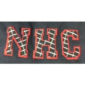 Sweatshirt with Applique Letters-New Hope Preschool Girls (Plaid Letters)