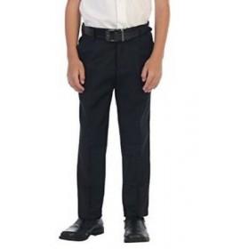 Best Value Boys Flat Front Pant-Navy