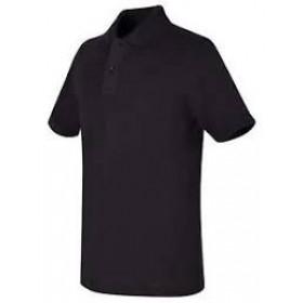 Best Value Knit Polo Shirt- Short Sleeve-Black