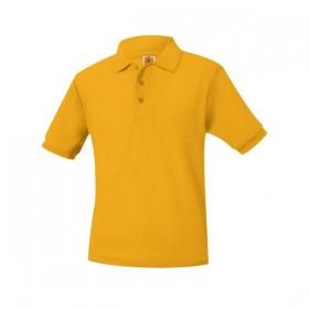 Pique Polo - Banded Sleeve - Short Sleeve-Gold
