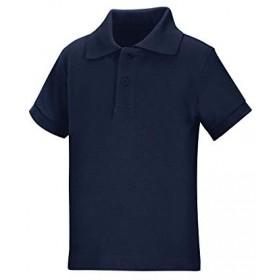 Pique Polo - Banded Sleeve - Short Sleeve-Navy