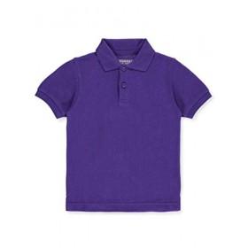 Pique Polo - Banded Sleeve - Short Sleeve-Purple