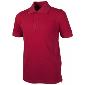 Pique Polo - Banded Sleeve - Short Sleeve-Red