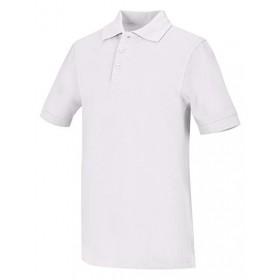 Pique Polo - Banded Sleeve - Short Sleeve-White