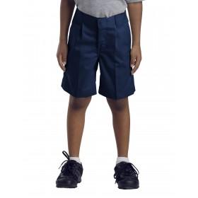 Boys Pleated Shorts-Navy