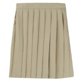 Pleated Skirt- Solid Colors-Khaki
