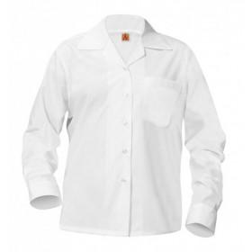 Sport Collar Blouse- Long Sleeve-White