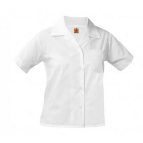 Sport Collar Blouse-White