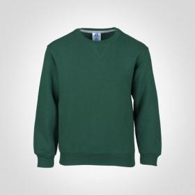 Crew Neck Sweatshirt-Hunter Green