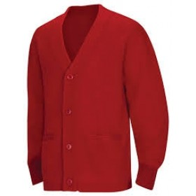 Cardigan Sweater with Pockets-Red