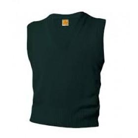 V-Neck Sweater Vest-Hunter Green