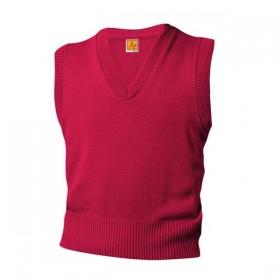 V-Neck Sweater Vest-Red