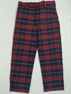Girls Plaid Pants- Flat Front