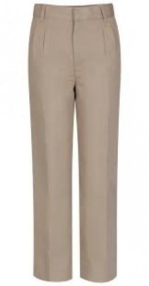Boys Pleated Pants-Khaki