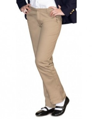 Girls Pants- Solid Color- Flat Front