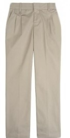 Girls Pants- Solid Color- Pleated Front